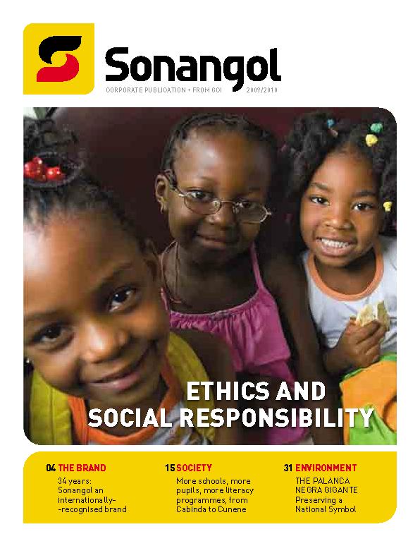 Sonangol — Revista de Responsabilidade Social 2010